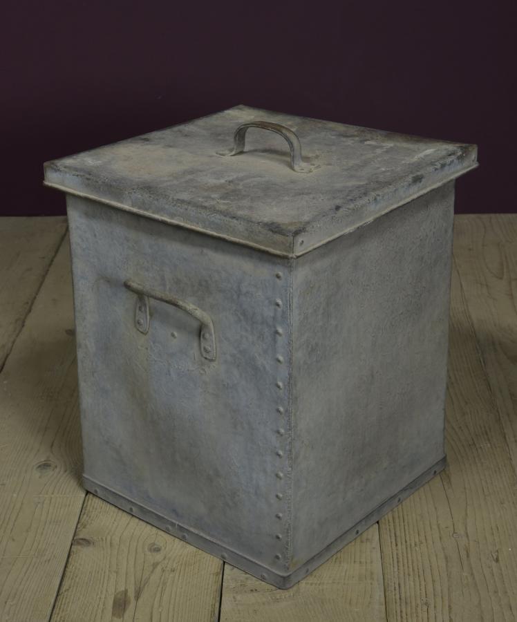 galvanised rivetted log bin