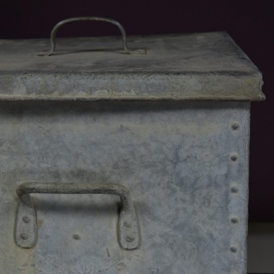 galvanised rivetted log bin