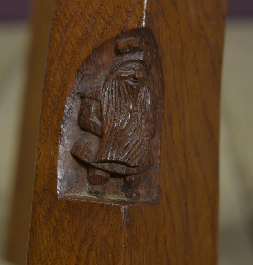 Gnome man spinning stool