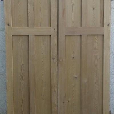Victorian  pine cupboard doors