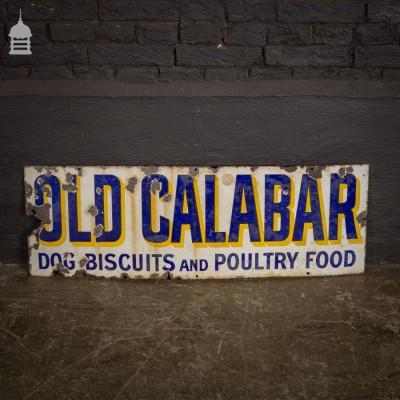 Vintage Old Calabar Dog Biscuits Enamel Advertising Sign