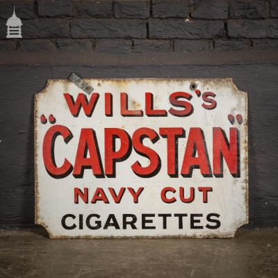 Wills's Capstan Double Sided Enamel Advertising Sign