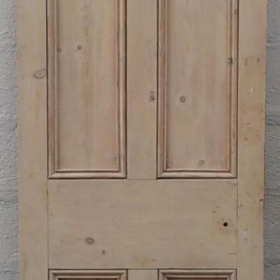 Victorian pine 4 paneled door.
