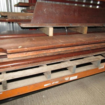 Pitch pine pew seating timber.