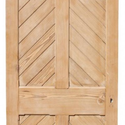 Arched 19th Century Pitched Pine Chapel Door