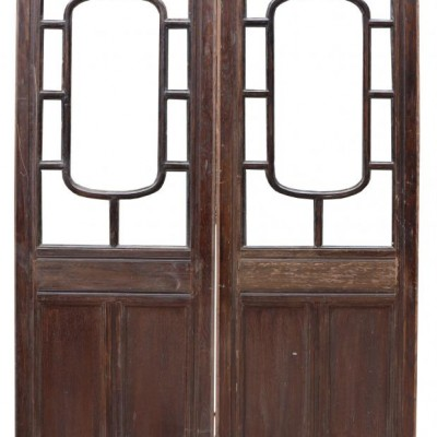Early 20th Century Glazed Oak Double Doors