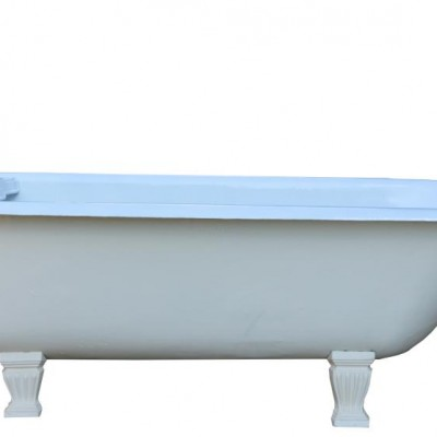 19th Century Antique Cast Iron Plunger Bath