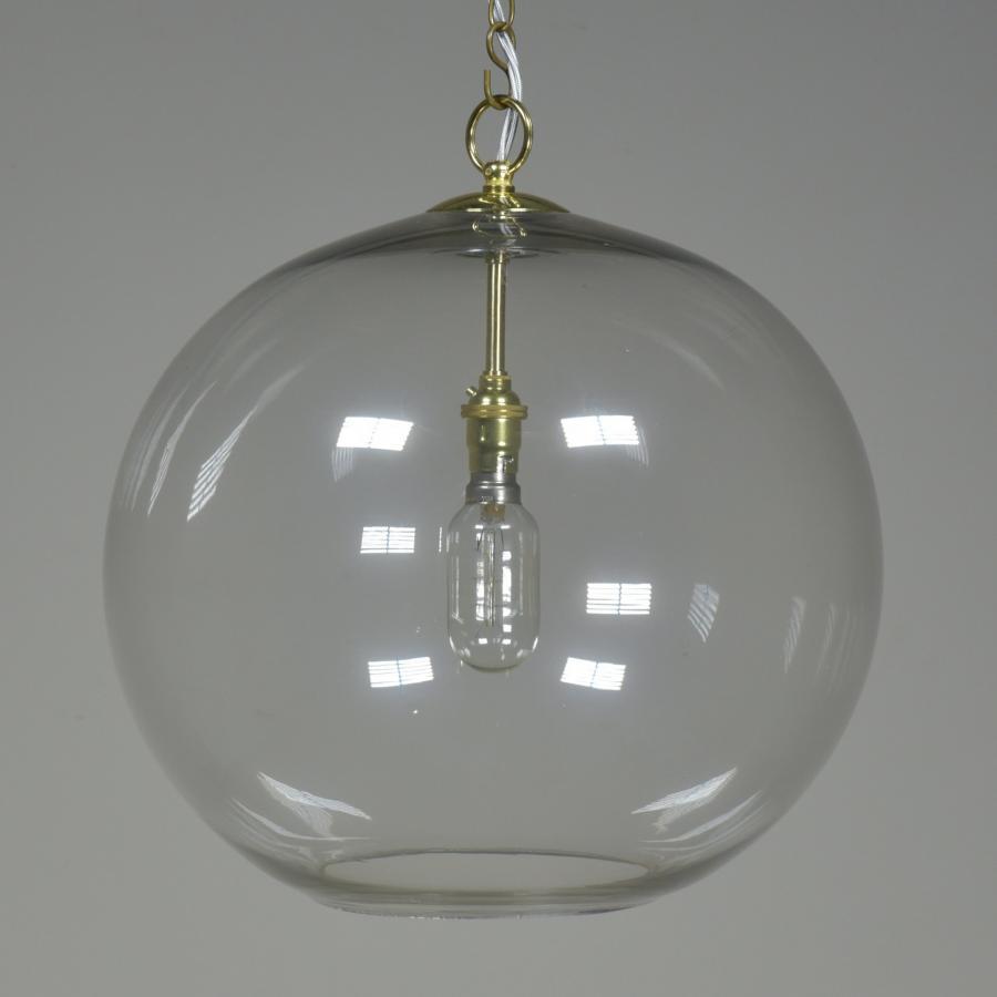 Vintage glass pendant globe lantern