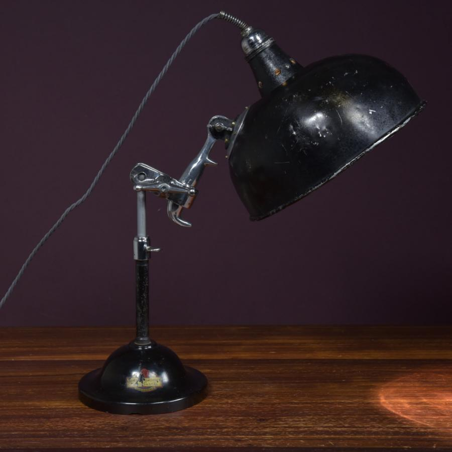Rare antique medical table lamp
