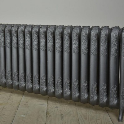 floral rococo antique cast iron radiator -18 section
