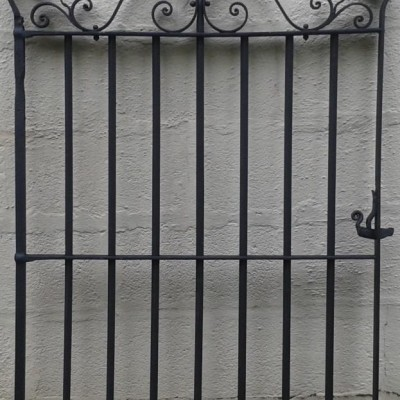 Victorian wrought iron pedestrian gate.