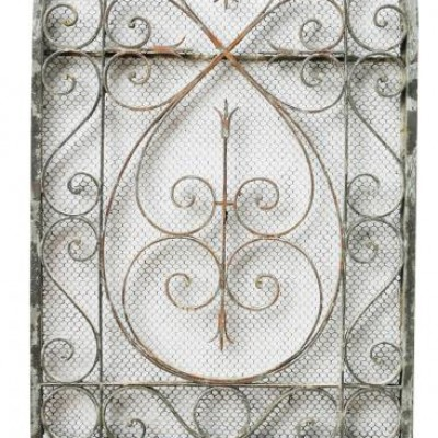 French Wrought Iron Arched Gate Circa.1900