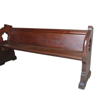 "Old Reclaimed Pitch Pine Church or Chapel Pew 73"" Long"