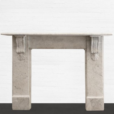 Victorian Carrara Marble Surround with Corbels