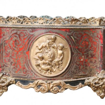 Early 19th Century French Inlaid Brass And Tortoiseshell Planter