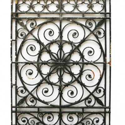 19th Century Wrought Iron Window Grill