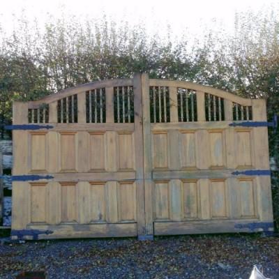 Reclaimed Large Solid Oak Driveway Gates
