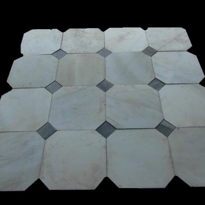 Reclaimed marble floor tiles - large quantity