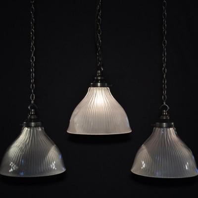 antique holophane pendant lights