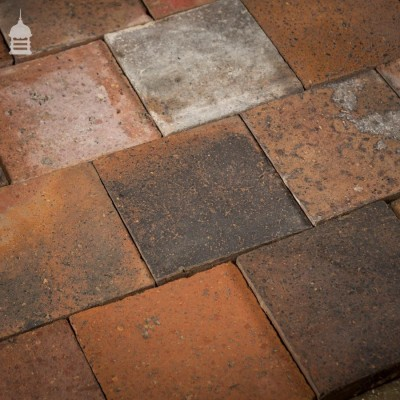 """Staffordshire Blue Black 9½"""" x 9½"""" Quarry Tiles with Worn Faces"""