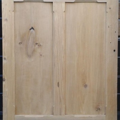 Victorian paneled pine cupboard door.