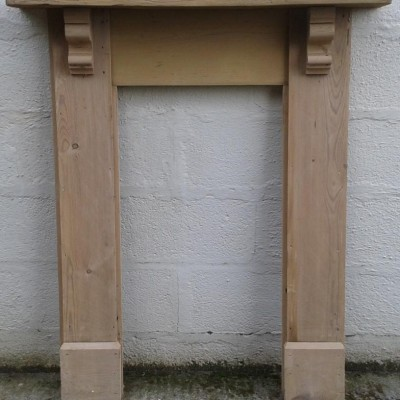 Victorian pine fire surround