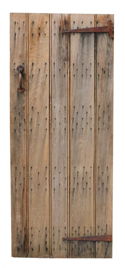 Reclaimed Weathered Oak Plank Door