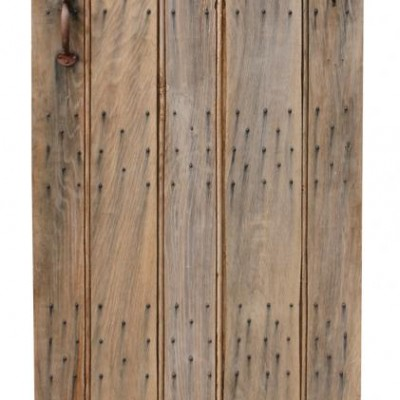 Reclaimed Weathered Oak Plank Door