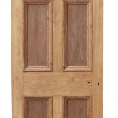 Antique Exterior Five Panel Pine Door