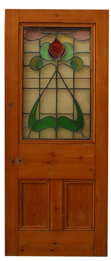 For Sale Art Nouveau Stained Glass Pine Interior Door Salvoweb Uk