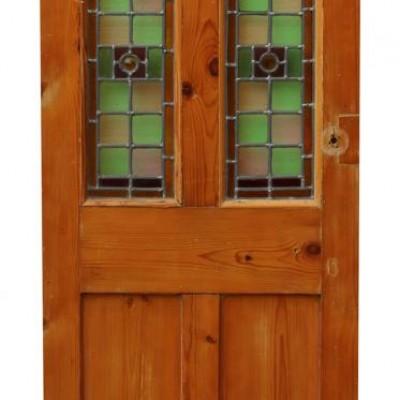 Victorian Stained Glass Interior Door