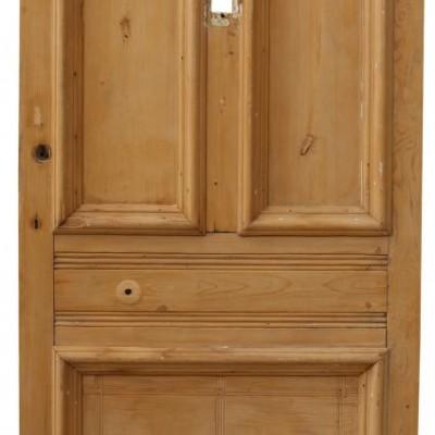 Victorian Stripped Pine Front Door