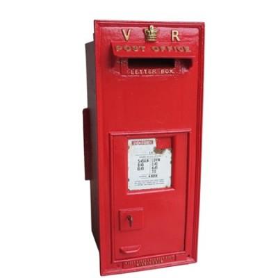 Rare Original Royal Mail VR Cast Iron Wall Mounted Post Box