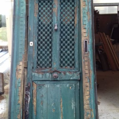 Reclaimed French door