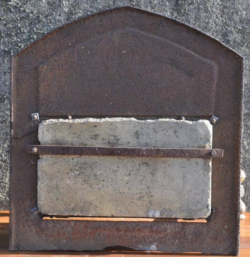 19th century antique arts and crafts dog grate