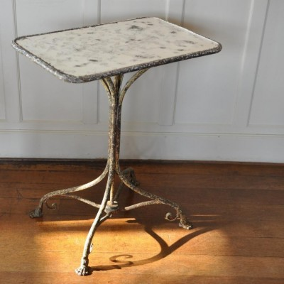 19th century french antique wrought iron Arras region table