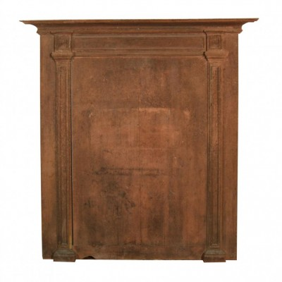 A painted 19th century French over mantle panel
