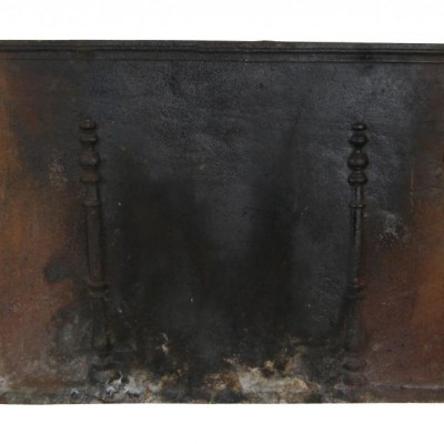 A 19th century French cast iron fire back